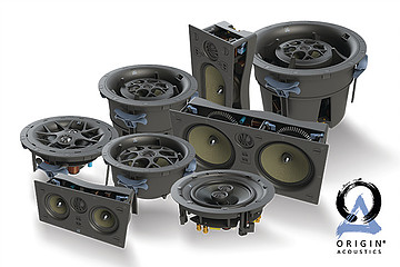 group of speaker systems from origin